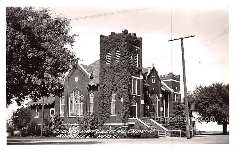 Zion Evangelical Church - Bonduel, Wisconsin WI Postcard