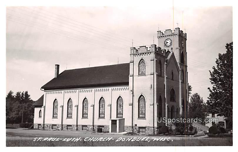 St Paul Lutheran Church - Bonduel, Wisconsin WI Postcard