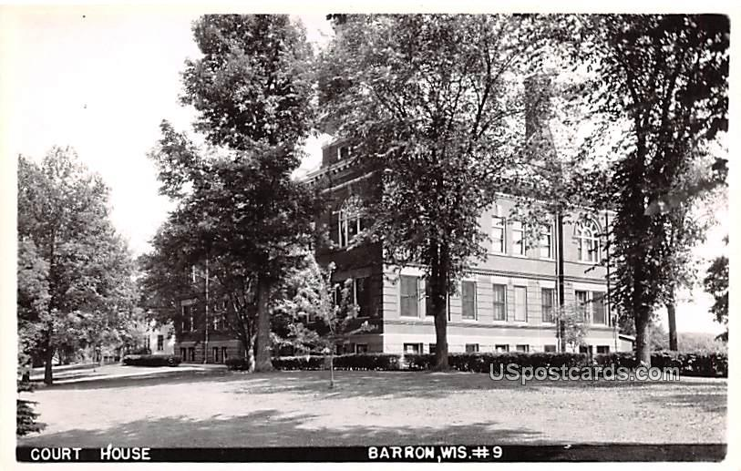 Court House - Barron, Wisconsin WI Postcard