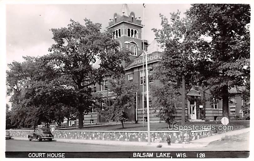 Court House - Balsam Lake, Wisconsin WI Postcard