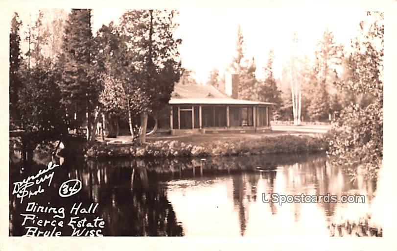 Dining Hall - Brule, Wisconsin WI Postcard