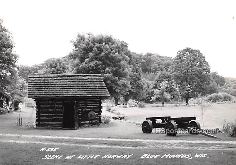Scene at Little Norway - Blue Mounds, Wisconsin WI Postcard