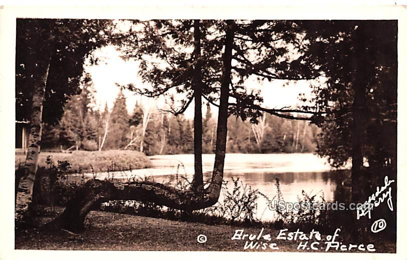 Estate of HC Pierce - Brule, Wisconsin WI Postcard