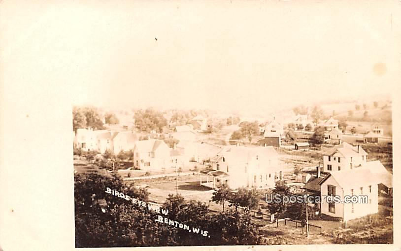 Birds Eye View - Benton, Wisconsin WI Postcard
