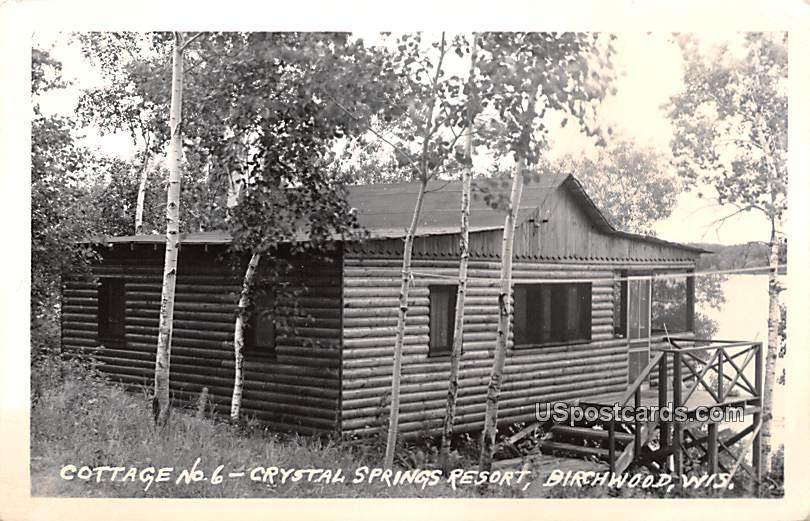 Cottage No 6 - Birchwood, Wisconsin WI Postcard