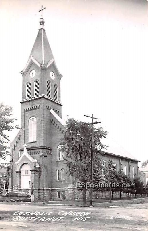 Catholic Church - Butternut, Wisconsin WI Postcard