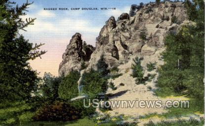 Ragged Rock - Camp Douglas, Wisconsin WI Postcard