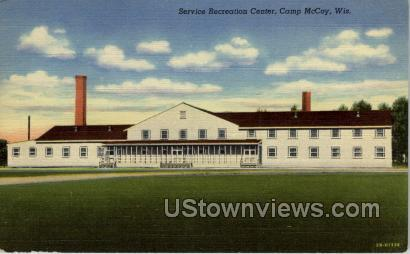 Recreation Center - Camp McCoy, Wisconsin WI Postcard