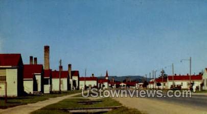Street Scene - Camp McCoy, Wisconsin WI Postcard