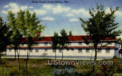 Guest House - Camp McCoy, Wisconsin WI Postcard