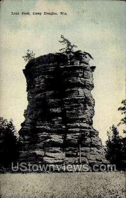 Lone Rock - Camp Douglas, Wisconsin WI Postcard