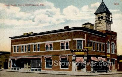 State Bank - Clintonville, Wisconsin WI Postcard