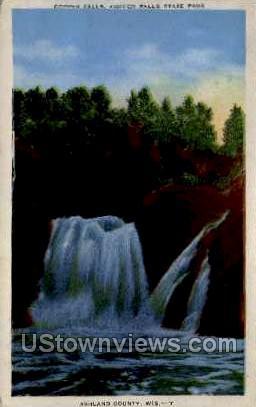 Copper Falls - Copper Falls State Park, Wisconsin WI Postcard