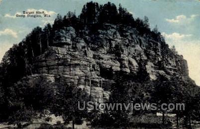Target Bluff  - Camp Douglas, Wisconsin WI Postcard