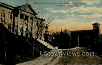Chimney Rock - Camp Douglas, Wisconsin WI Postcard