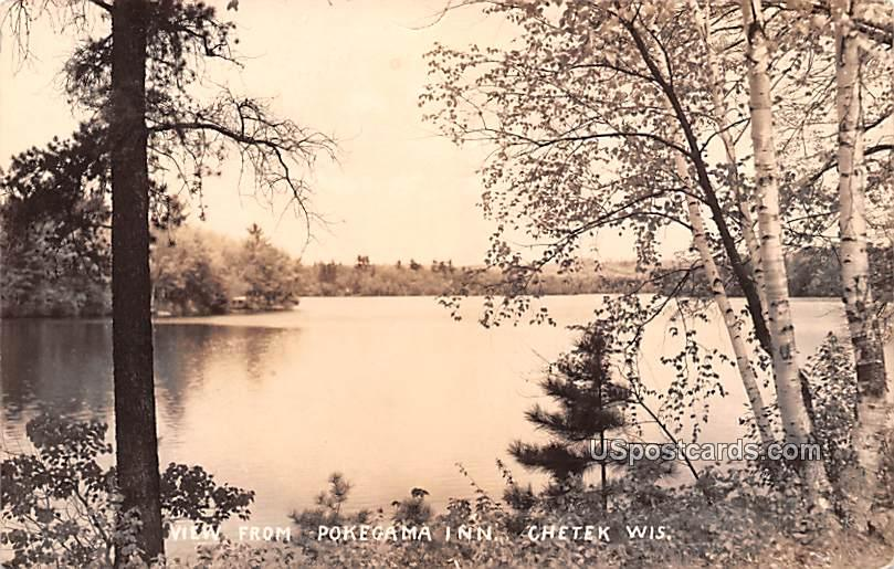 View from Pokegama Inn - Chetek, Wisconsin WI Postcard