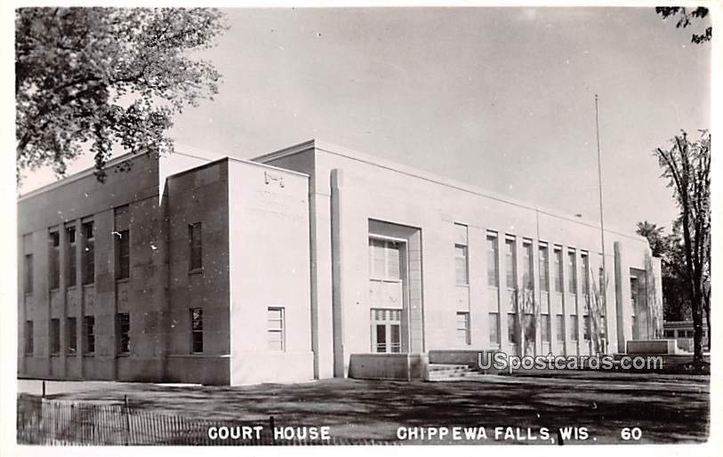 Court House - Chippewa Falls, Wisconsin WI Postcard
