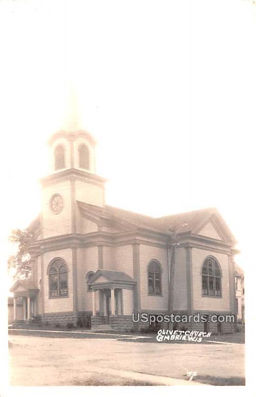 Olivet Church - Cambria, Wisconsin WI Postcard