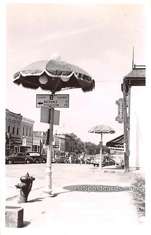 Umbrella Town - Cambridge, Wisconsin WI Postcard