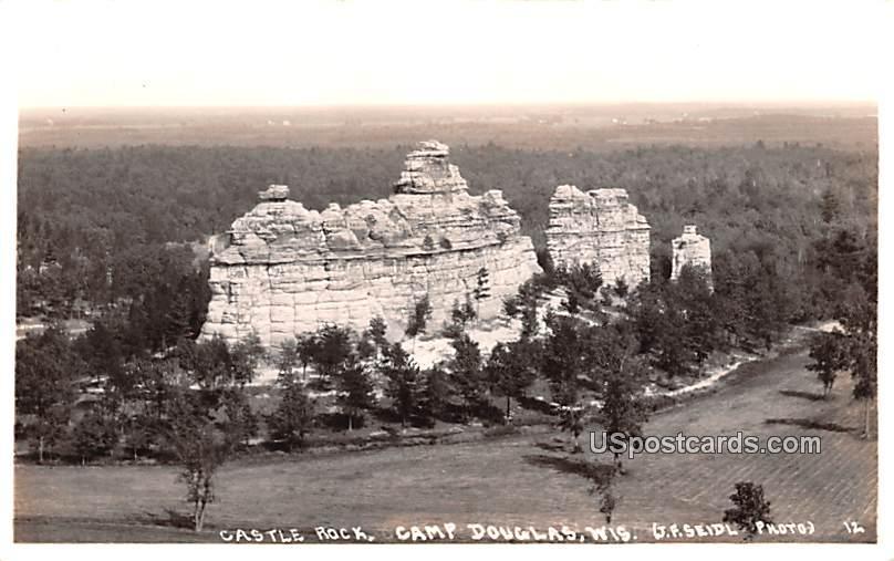 Castle Rock - Camp Douglas, Wisconsin WI Postcard
