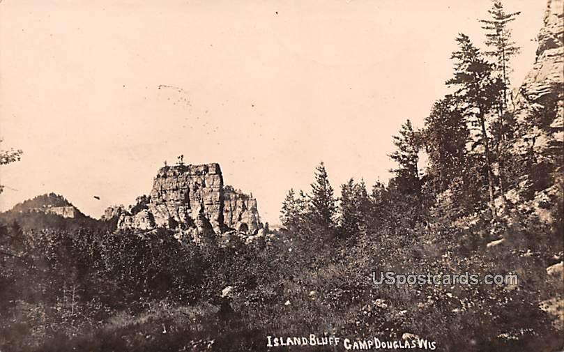 Island Bluff - Camp Douglas, Wisconsin WI Postcard
