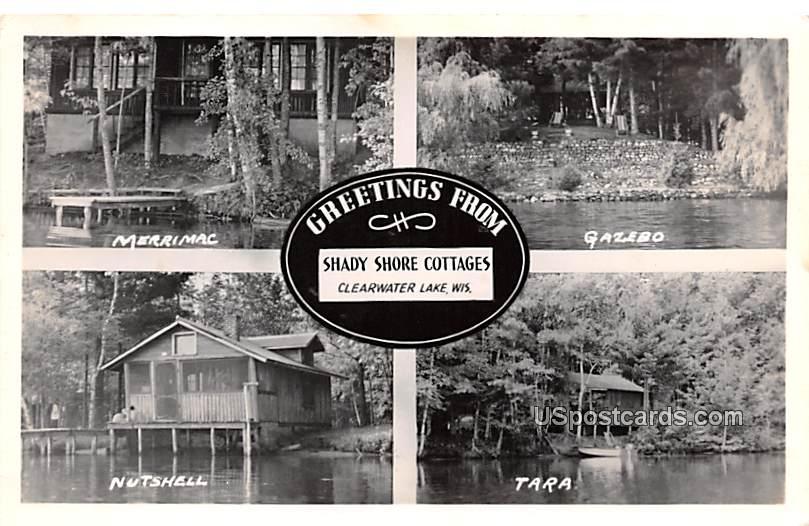 Merrimac, Gazebo, Nutshell, Tara - Clearwater Lake, Wisconsin WI Postcard