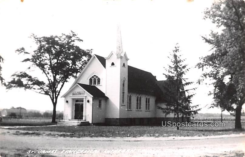 St James Evangelical Lutheran Church - Cambridge, Wisconsin WI Postcard