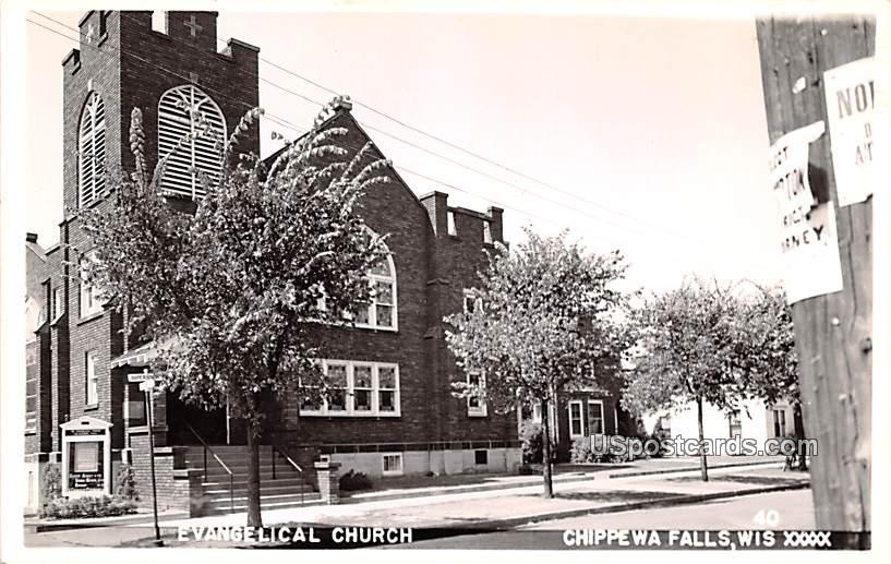 Evangelical Church - Chippewa Falls, Wisconsin WI Postcard