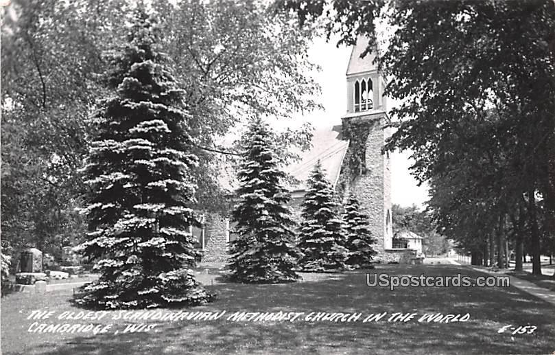 Oldest Scandinavian Methodist Church in the World - Cambridge, Wisconsin WI Postcard