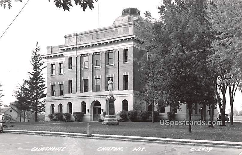 Court House - Chilton, Wisconsin WI Postcard