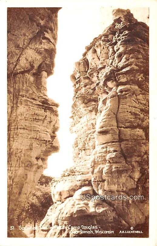 Scene at Castle Rock - Camp Douglas, Wisconsin WI Postcard
