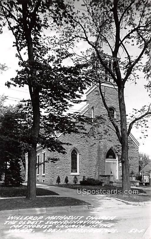 Willerop Methodist Church - Cambridge, Wisconsin WI Postcard
