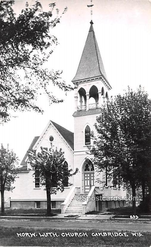 Norw Lutheran Church - Cambridge, Wisconsin WI Postcard