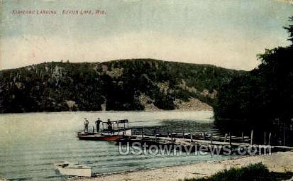 Kirkland Landing - Devil's Lake, Wisconsin WI Postcard