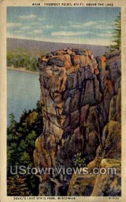 Prospect Point - Devil's Lake, Wisconsin WI Postcard