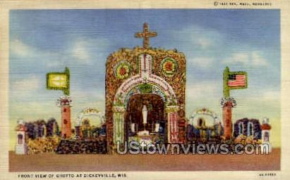 Grotto  - Dickeyville, Wisconsin WI Postcard