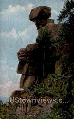 The Stone Face - Devil's Lake, Wisconsin WI Postcard