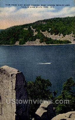Devil's Lake - Wisconsin WI Postcard