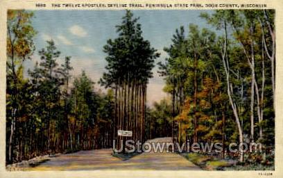 The Twelve Apostles - Door County, Wisconsin WI Postcard