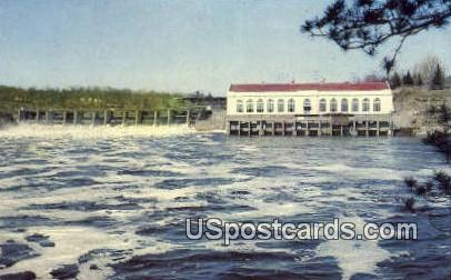 Dam & Power House - Dells Of The Wisconsin River Postcards, Wisconsin WI Postcard
