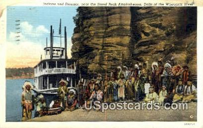 Stand Rock Amphitheatre - Dells Of The Wisconsin River Postcards, Wisconsin WI Postcard