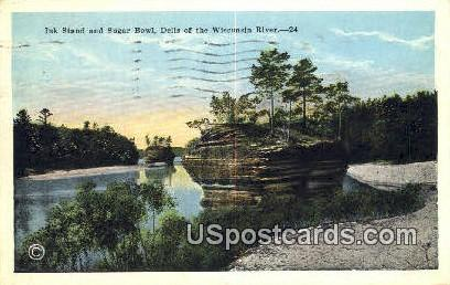 Ink Stand, Sugar Bowl - Dells Of The Wisconsin River Postcards, Wisconsin WI Postcard