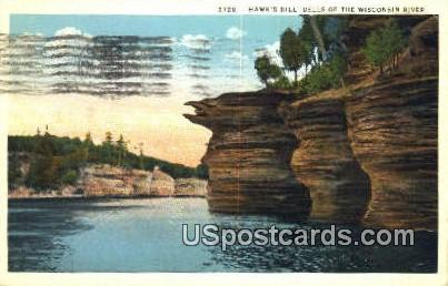 Hawk's Bill - Dells Of The Wisconsin River Postcards, Wisconsin WI Postcard
