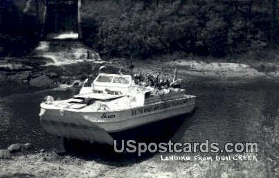 Landing - Dell Creek, Wisconsin WI Postcard