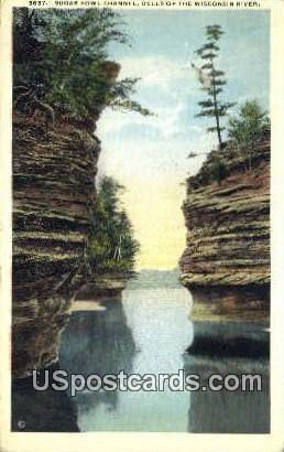Sugar Bowl Channel - Dells Of The Wisconsin River Postcards, Wisconsin WI Postcard