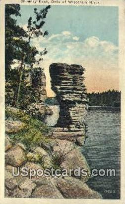 Chimney Rock - Dells Of The Wisconsin River Postcards, Wisconsin WI Postcard
