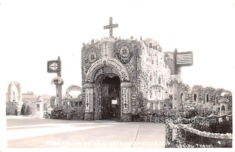 Front View of Grotto - Dickeyville, Wisconsin WI Postcard