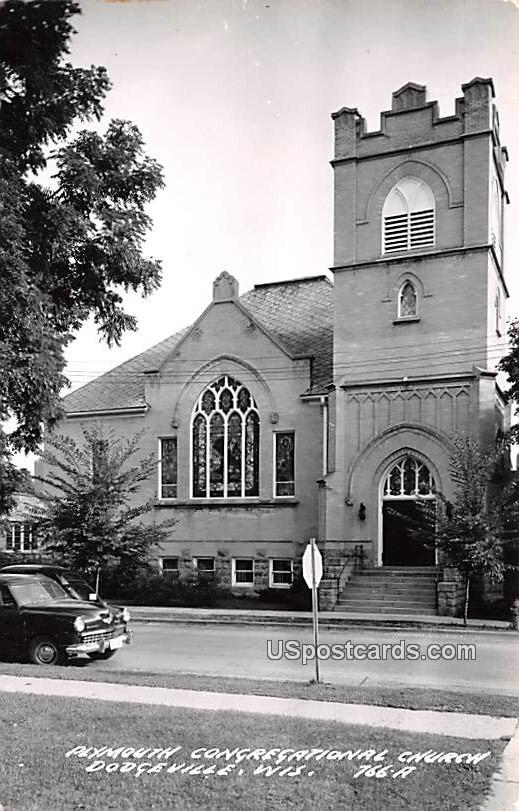 Plymouth Congregational Church - Dodgeville, Wisconsin WI Postcard