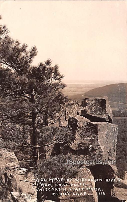 Wisconsin River - Devils Lake Postcard