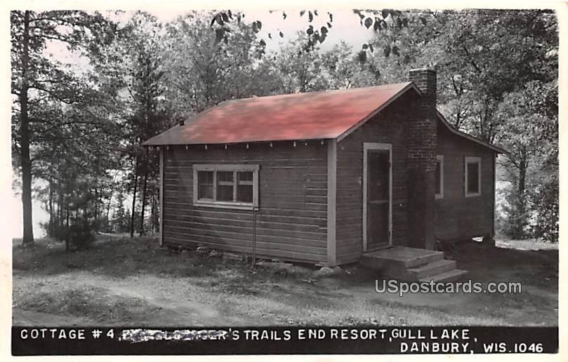 Cottage #4 - Danbury, Wisconsin WI Postcard